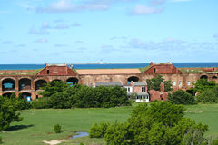 Fort Jefferson, Inner wall, houses and courtyard, Dry Tortugas, Florida Stock Images