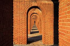 Fort Jefferson Interior, Dry Tortugas National Park, Florida Keys royalty free stock photography
