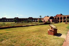 Fort Jefferson Main Courtyard Stock Image