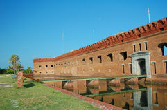 Fort jefferson moat entrance Royalty Free Stock Photography