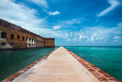 Fort Jefferson Mote Walk Royalty-vrije Stock Afbeelding