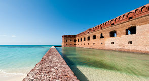 Fort Jefferson på den torra Tortugas nationalparken Arkivfoto