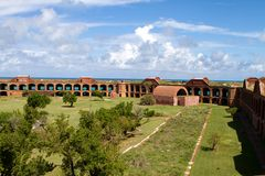 Fort Jefferson Parade Ground Royalty Free Stock Photo