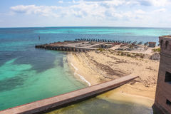 Fort Jefferson ruins Stock Photography