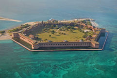 Fort Jefferson, stationnement national sec de Tortugas Images libres de droits