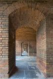 Fort Jefferson Upstairs Archways de Front Side 5 photographie stock