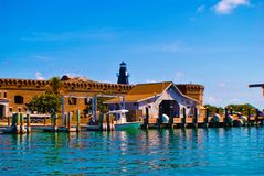 Fort Jefferson. A view of the docks of Fort Jefferson in the Dry Tortugas off of Key West royalty free stock photography