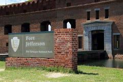Fort Jefferson w Suchym Tortugas parku narodowym, Floryda klucze zdjęcie stock