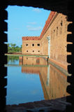 Fort jefferson window view Royalty Free Stock Photography