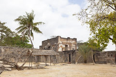 Fort Jesus in Mombasa, Kenya. Ruins of the historic Fort Jesus in Mombasa, Kenya Stock Photo