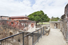 Fort Jesus in Mombasa, Kenya. Ruins of the historic Fort Jesus in Mombasa, Kenya Stock Photos