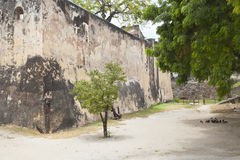 Fort Jesus in Mombasa, Kenya. Walls of the historic Fort Jesus in Mombasa, Kenya Royalty Free Stock Photography