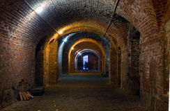 Fort Kaliningrad Vnutrennie rum nummer 11 Royaltyfri Fotografi