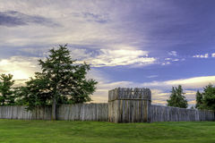 Free Fort Kearny Log Fence At Sunrise Royalty Free Stock Photos - 43818188
