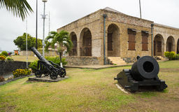 Fort King George and Scarborough in Tobago Stock Image