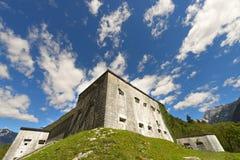 Fort Kluze 1882 - Slovenien (den österrikiska fästningen) Royaltyfria Foton
