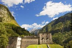 Fort Kluze 1882 - Slovenien (den österrikiska fästningen) Royaltyfri Foto