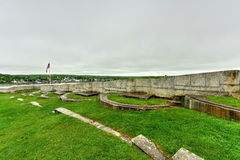 Fort Knox - Maine. Fort Knox on the Penobscot River, Maine, USA. Built between 1844 and 1869, it was the first fort in Maine built of granite Royalty Free Stock Photo