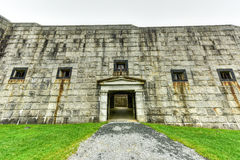Fort Knox - Maine. Fort Knox on the Penobscot River, Maine, USA. Built between 1844 and 1869, it was the first fort in Maine built of granite Stock Images