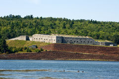 Fort Knox state park. Historic Fort Knox on Penobscot river, Maine Royalty Free Stock Photography