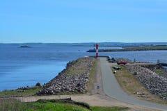 Fort Konstantin i golfen av Finland nära Kronstadt, St Petersburg, Ryssland Arkivfoton
