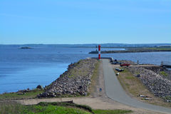 Fort Konstantin w zatoce Finlandia blisko Kronstadt, St Petersburg, Rosja Zdjęcia Stock