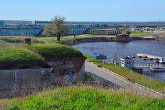 Fort Konstantin w zatoce Finlandia blisko Kronstadt, St Petersburg, Rosja Fotografia Royalty Free
