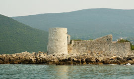 Fort in the Kotorsky gulf Stock Photography