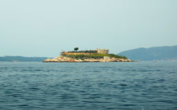 Fort in the Kotorsky gulf Stock Photos