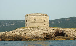 Fort in the Kotorsky gulf Royalty Free Stock Photo