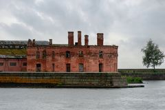 Fort Of Kronshlot. The Fort Of Kronshlot. Kronshtadt Royalty Free Stock Photos