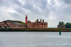 Old Fort. The Fort Of Kronshlot. Kronshtadt Stock Images