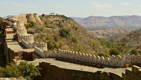 Fort at Kumbhalgarh Stock Photos