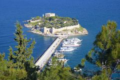 Fort in Kusadasi, Turkey Royalty Free Stock Photos