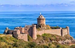 Fort La Latte, Bretagne, France. Fort La Latte, Cote Granite Rose, Bretagne, France stock photo
