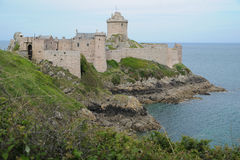 Fort la Latte at Cap Frehel in Brittany, France Royalty Free Stock Images