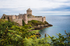 Fort la Latte castle royalty free stock photo