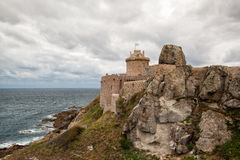 Fort La Latte - fortress on the coast in Brittany Stock Image