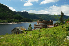 A fort by a Lake Stock Photography