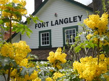Fort Langley, BC. The train station in Fort Langley, the birthplace of British Columbia, Canada stock image