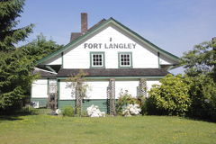 Fort Langley Historic Train Station. A historic train station in Fort Langley, British Columbia Stock Image