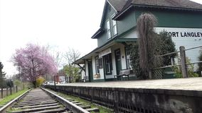 Fort Langley museum. Landmark historical building Fort Langley Canada stock video