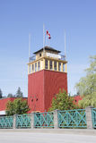 Fort Langley Tower royaltyfria bilder