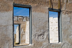 Fort Laramie. The ruined walls of buildings on historic Fort Laramie, Wyoming Stock Images