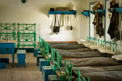 Fort Laramie barrack. Reconstructed barrack in Fort Laramie, Wyoming royalty free stock photos