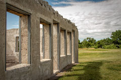 Fort Laramie. Some ruins in Fort Laramie, Wyoming Royalty Free Stock Image