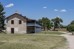 Fort Laramie, Wyoming. Fort Laramie National Historic Site in Wyoming royalty free stock image