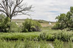 Fort Laramie, Wyoming stock photography