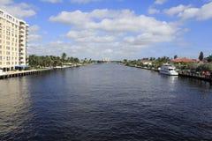Fort Lauderdale,佛罗里达内陆水路 图库摄影