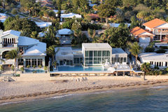 Fort Lauderdale. Beach with houses along the coastling Royalty Free Stock Photography